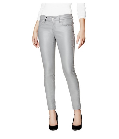 Imbracaminte Femei GUESS Lanori Coated Skinny Jeans stone grey