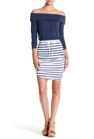 Imbracaminte Femei Splendid Shirred Striped Pencil Skirt NAVY