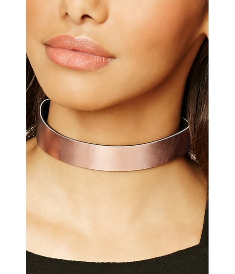 Bijuterii Femei Forever21 Faux Leather Choker Rose gold