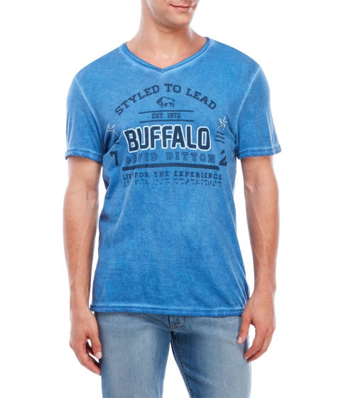 Imbracaminte Barbati Buffalo David Bitton V-Neck Graphic T-Shirt Horizon