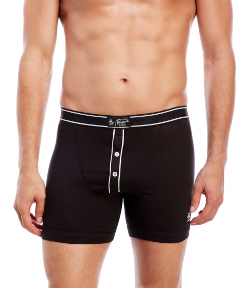 Imbracaminte Barbati Original Penguin Stretch Cotton Boxer Briefs Black