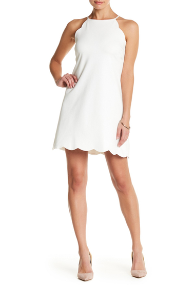 Imbracaminte Femei LOVEAdy Scalloped Trim Shift Dress IVORY