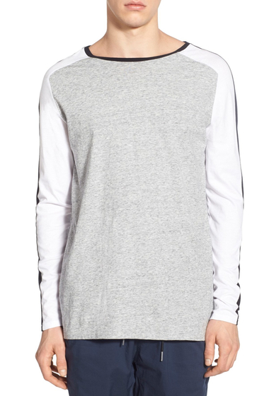 Imbracaminte Barbati Zanerobe Lunix Flintlock Long Sleeve T-Shirt GREY MARLE WHITE