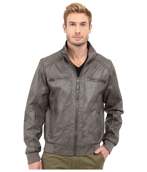 Imbracaminte Barbati Calvin Klein Faux Leather Bomber Grey