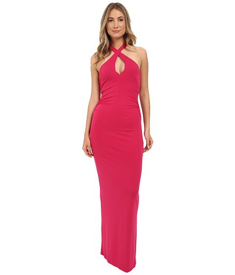 Imbracaminte Femei Nicole Miller Loretta Keyhole Halter Gown Carnation