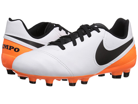 Incaltaminte Fete Nike Jr Tiempo Legend VI FG Soccer (ToddlerLittle KidBig Kid) WhiteTotal OrangeBlack