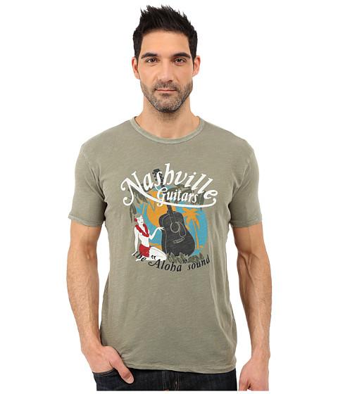 Imbracaminte Barbati Lucky Brand Nashville Tropics Graphic Tee Brunta Olive