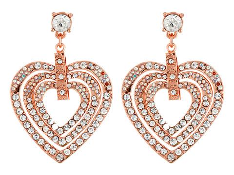 Bijuterii Femei Betsey Johnson Heart Drop Earrings Crystal