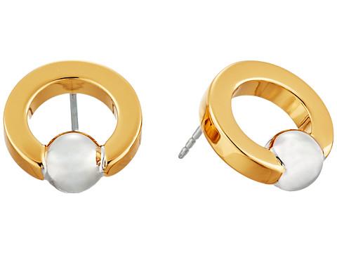 Bijuterii Femei Rebecca Minkoff Two-Tone Circle Bead Earrings GoldRhodium