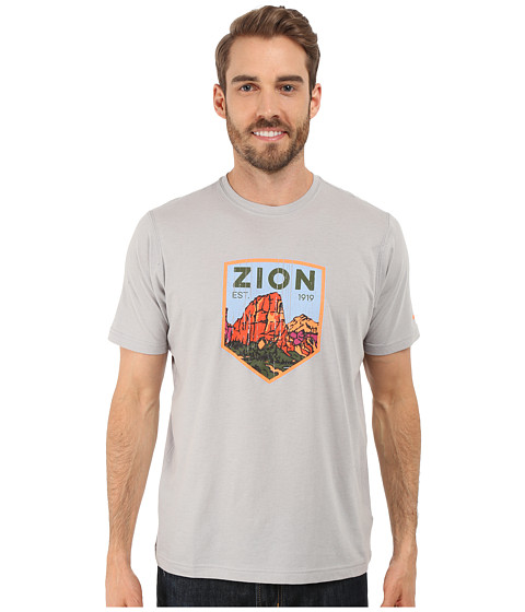 Imbracaminte Barbati Columbia National Parks Tee Grey HeatherZion