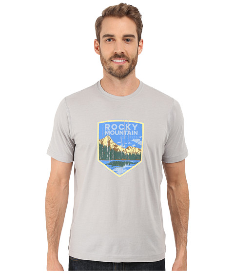 Imbracaminte Barbati Columbia National Parks Tee Grey HeatherRocky Mountain