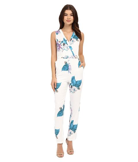 Imbracaminte Femei Brigitte Bailey Lotte V-Neck Floral Jumpsuit White