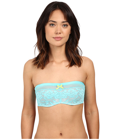 Imbracaminte Femei Betsey Johnson Starlet Lace amp Mesh Bandeau Bra 725801 Blue Radiance