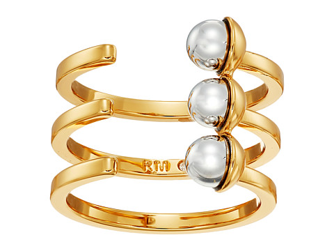 Bijuterii Femei Rebecca Minkoff Two-Tone Bead Wrap Ring GoldRhodium