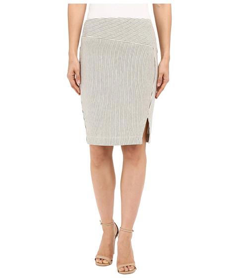 Imbracaminte Femei Three Dots Edda Seamed Skirt w Slit Oatmeal