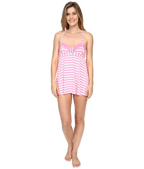 Imbracaminte Femei Betsey Johnson Knit Babydoll with Matching Bikini Pink Flamingo Stripe