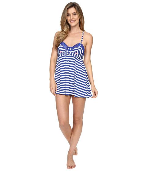 Imbracaminte Femei Betsey Johnson Knit Babydoll with Matching Bikini Knotty Navy Stripe