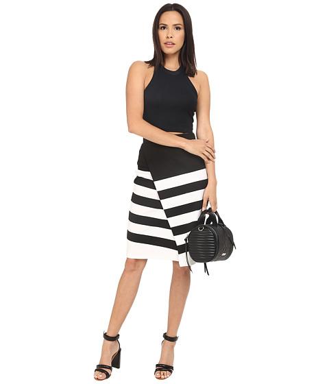 Imbracaminte Femei BB Dakota Portia Striped Ponte Faux Wrap Skirt Black