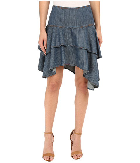 Imbracaminte Femei Ariat Haley Chambray Tier Skirt Riviera