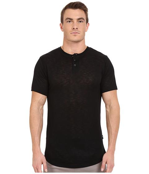 Imbracaminte Barbati Publish Amadeo - Mock Twist Knit Short Sleeve Henley Black