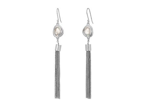 Bijuterii Femei Cole Haan Silver Tassel amp Pink Stone Drop Earrings Brushed SilverRose Quartz