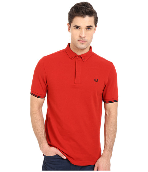 Imbracaminte Barbati Fred Perry Concealed Placket Shirt Wallace Red