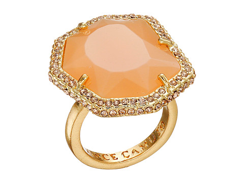 Bijuterii Femei Vince Camuto Pave Border Stone Ring Worn GoldMilky Light PeachLight Peach Pave