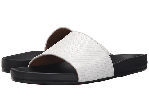 Incaltaminte Barbati Marc Jacobs Textured Tri Slide Sandal White