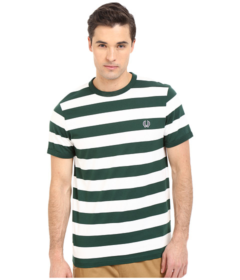 Imbracaminte Barbati Fred Perry Striped Sports T-Shirt Ivy