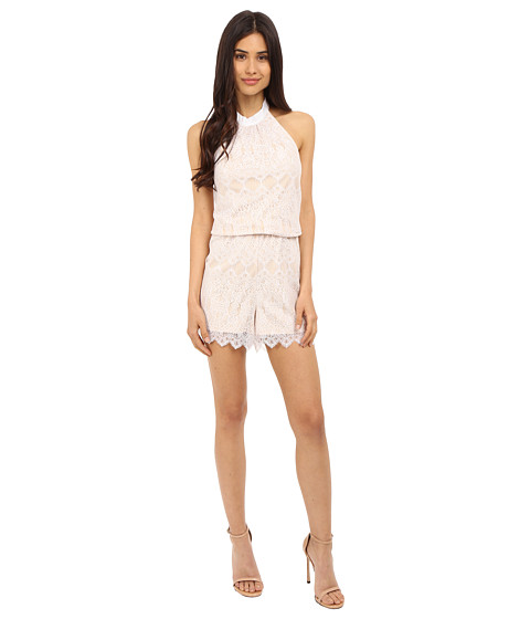 Imbracaminte Femei kensie Dainty Lace Jumpsuit KS5K7443 White Combo