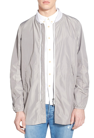 Imbracaminte Barbati NATIVE YOUTH Tech Longline Bomber Jacket GREY