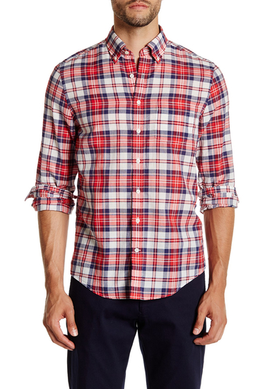 Imbracaminte Barbati Gant Rugger Preppy Poplin Check Long Sleeve Trim Fit Shirt CLASSIC RED