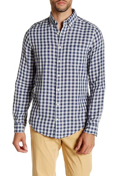 Imbracaminte Barbati Gant Rugger Doublecheck Indigo Long Sleeve Fitted Shirt INDIGO BLU