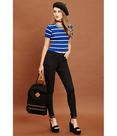 Imbracaminte Femei Forever21 Skinny Mid-Rise Pants Black