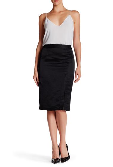Imbracaminte Femei Nanette Lepore Shimmy Up Linen Blend Skirt BLACK