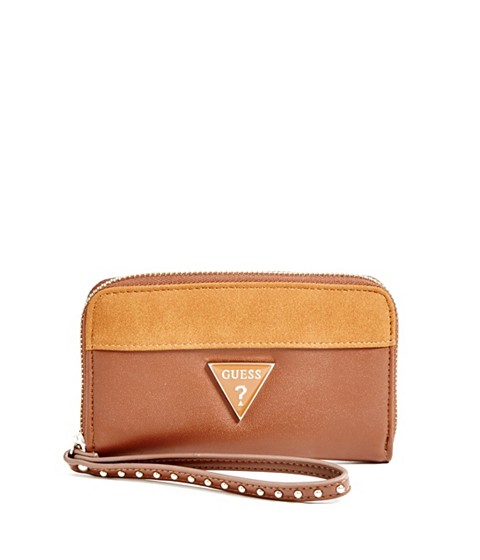 Accesorii Femei GUESS Josefina Zip-Around Wristlet natural multi