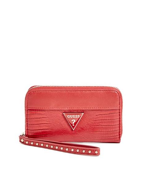 Accesorii Femei GUESS Josefina Zip-Around Wristlet red