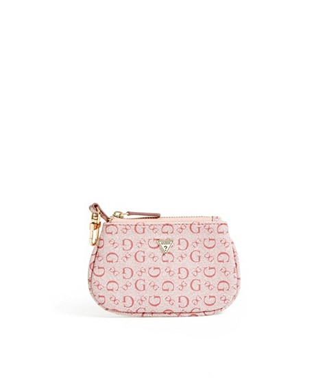 Accesorii Femei GUESS Coin Pouch with Keychain pink multi