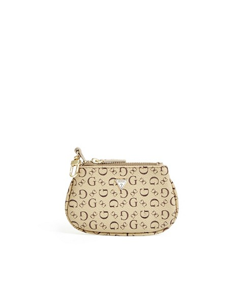Accesorii Femei GUESS Coin Pouch with Keychain mocha