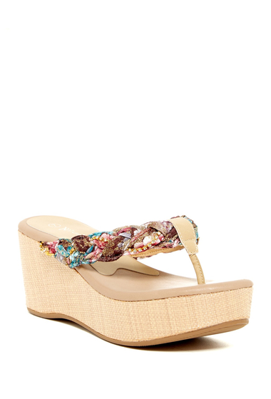 Incaltaminte Femei Nature Breeze Moss Platform Sandal BEIGE PU