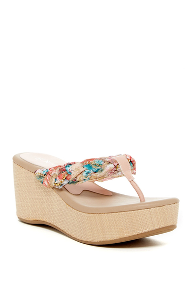 Incaltaminte Femei Nature Breeze Moss Platform Sandal PINK FLORAL PU