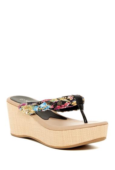 Incaltaminte Femei Nature Breeze Moss Platform Sandal BLACK PU