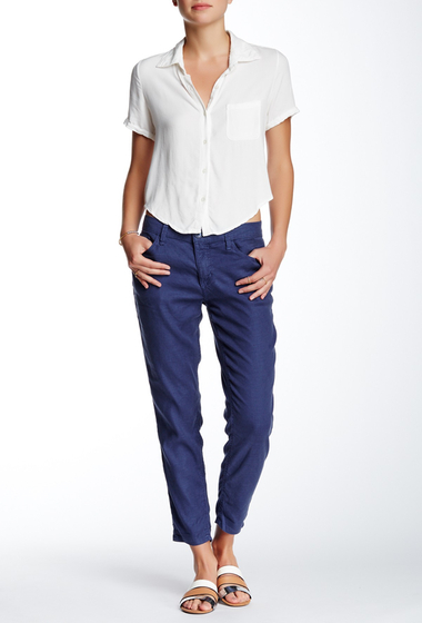 Imbracaminte Femei Level 99 Sienna Tomboy Fit Linen Blend Pants YACHT