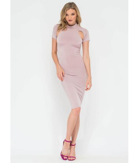 Imbracaminte Femei CheapChic Unarmed Cut-out Laced Back Midi Dress Mauve