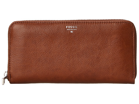 Genti Femei Fossil Sydney Zip Clutch Brown 2