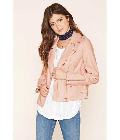Imbracaminte Femei Forever21 Faux Leather Moto Jacket Light pink