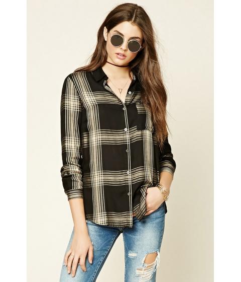Imbracaminte Femei Forever21 Tartan Plaid Shirt Blacktaupe