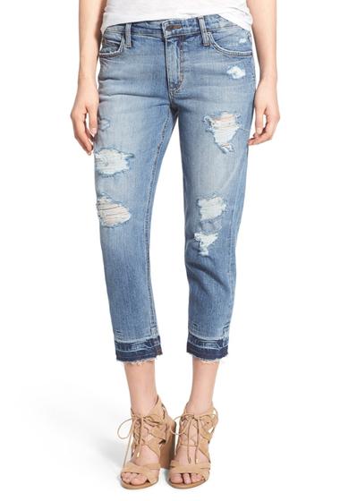 Imbracaminte Femei Joe's Jeans Billie Destroyed Crop Slim Boyfriend Jeans Bijou BIJOU