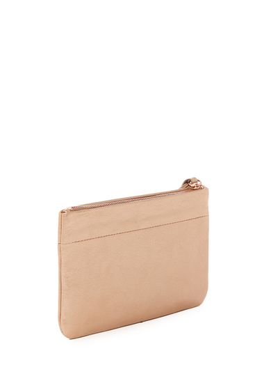 Accesorii Femei Hobo Carley Leather Zip Wristlet BLUSH