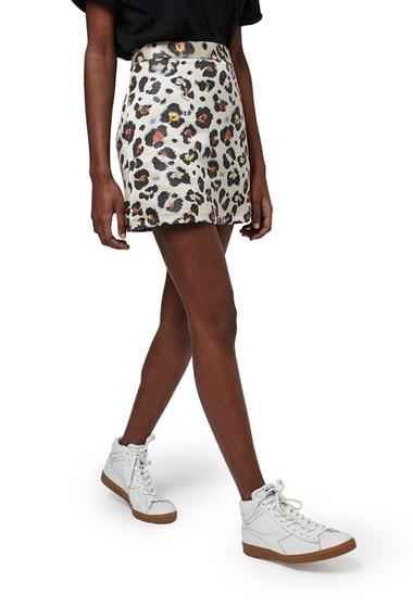 Imbracaminte Femei TOPSHOP Leopard Jacquard Miniskirt GOLD-MULTI